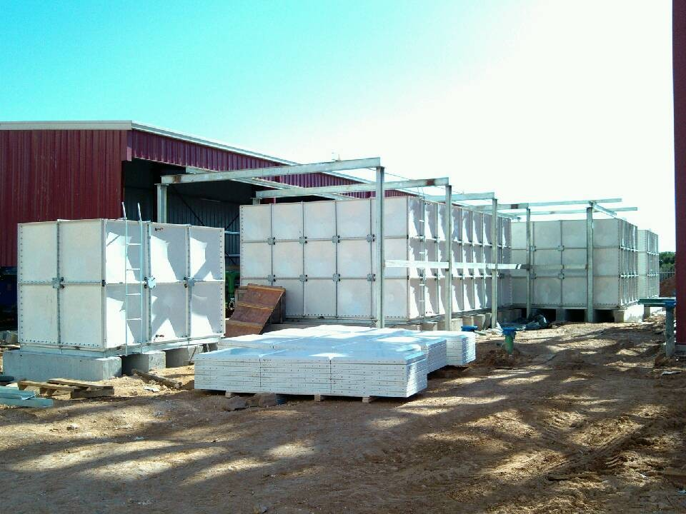 FRP water tank in South Africa