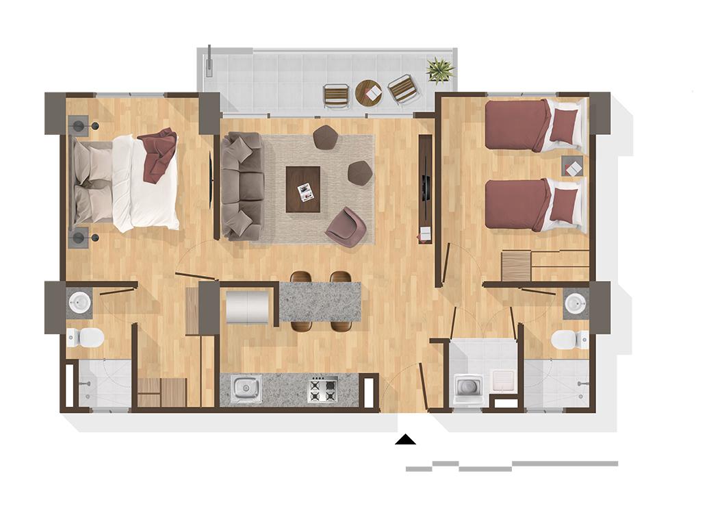 Apartamentos en Pereira Tipo B