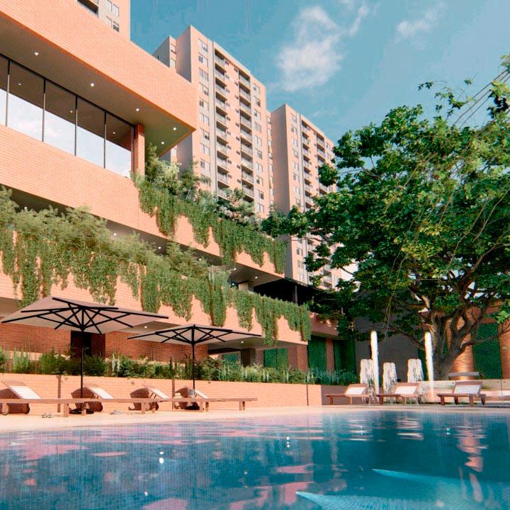 Vista Piscina - Apartamentos en Pereira