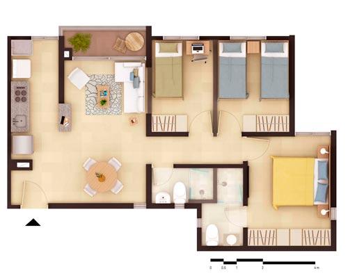 Apto tipo A - Apartamentos en Pereira
