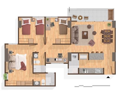 Apto Tipo A2 Palma - Apartamentos Premium en Pereira