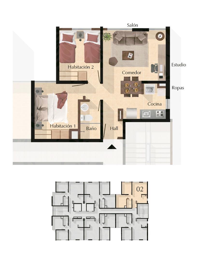 Apto Tipo Guadua - Apartamentos VIS en Pereira