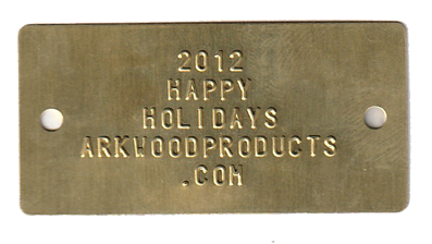 1.10 x 2.25 tag embossed with 5 lines of .125 font