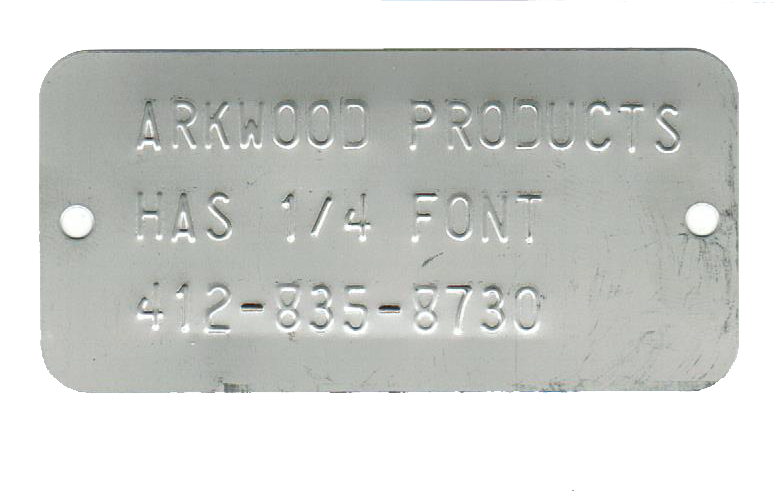 1.725 x 3.50 embossed with 3 line of .25 font