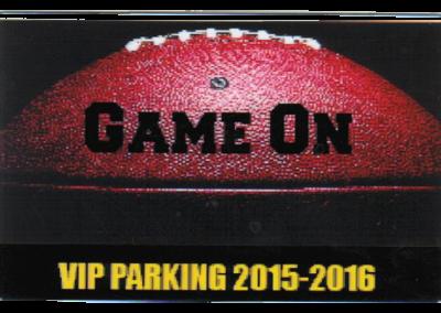 Football parking pass