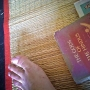 Foot and book