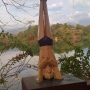 Headstand statue