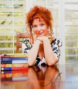 Sylvia Portrait with books