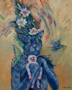 "Oil on Canvas, 30"" x 20"""