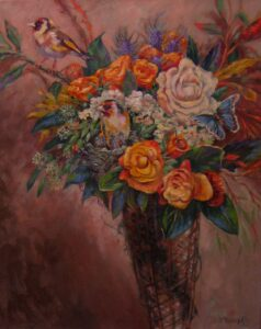 "Oil on canvas, 30"" x 24"""