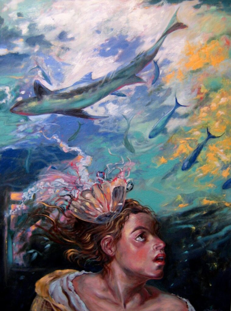"""""""The Sea Within Me"""" oil on canvas  40"""" x 30"""""""