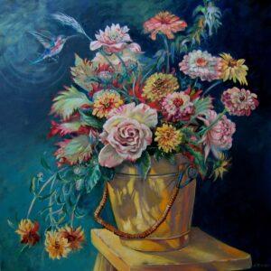 "Oil on Canvas, 30"" x 30"""