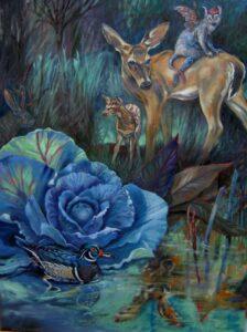 """""""The Garden in my mind"""" oil  48"""" x 36"""""""