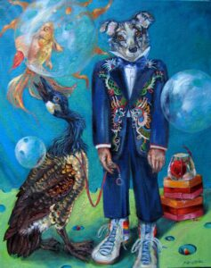 """Gretta's New Suit""""  oil on canvas  30"""" x 24"""""""