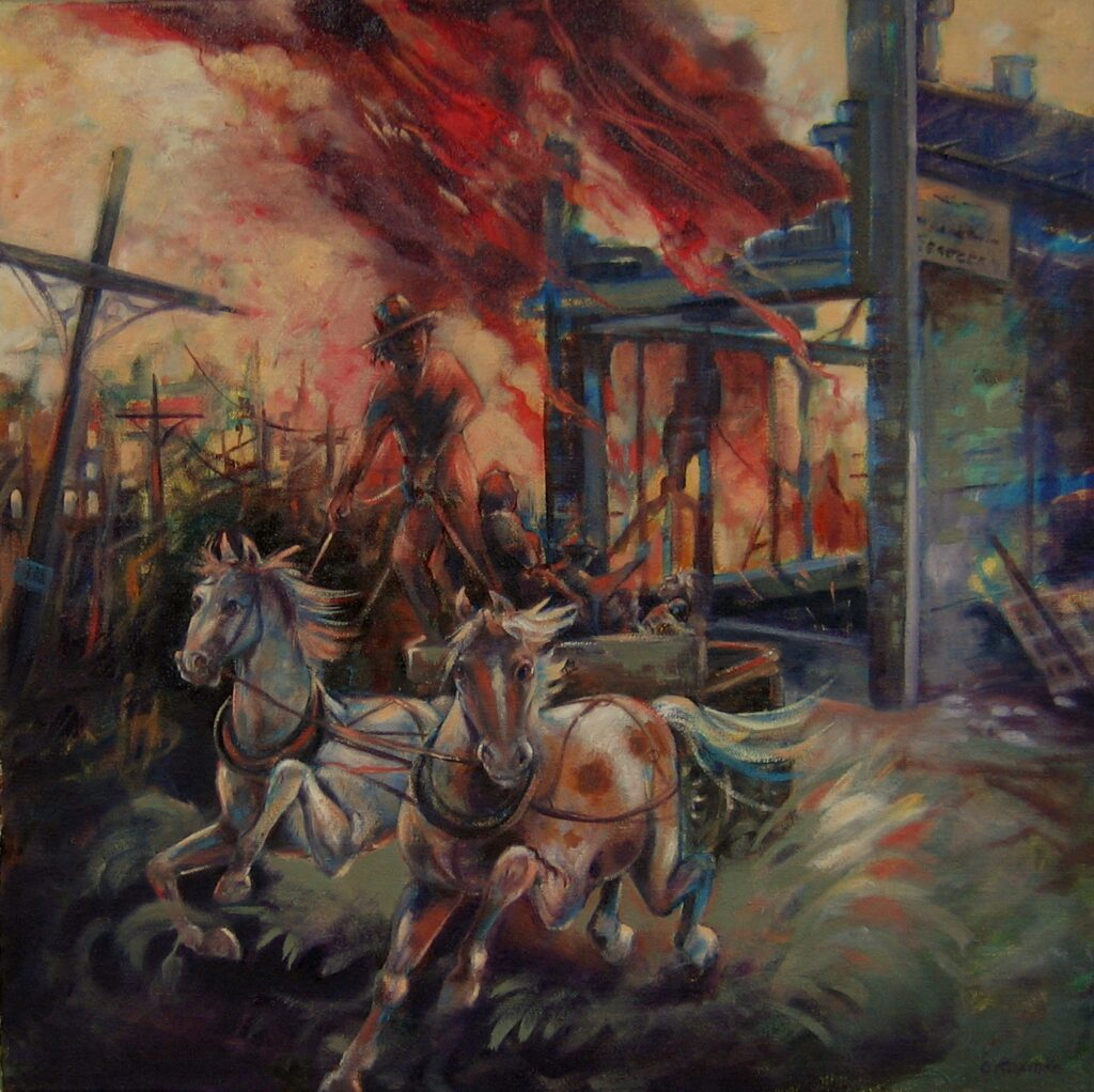 The Great Fire Aug. 4th 1889