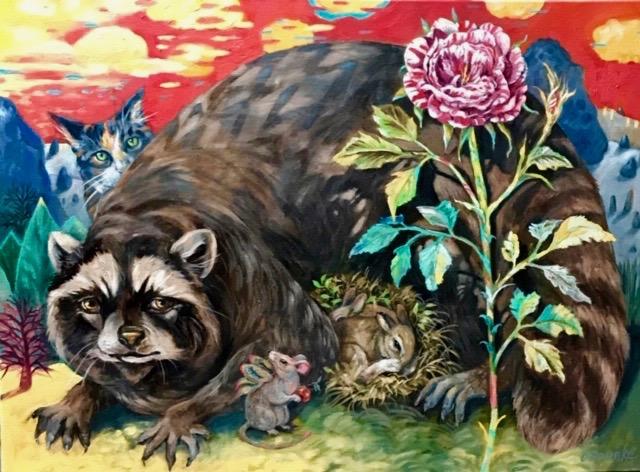 "Oil on canvas  30"" x 40"""
