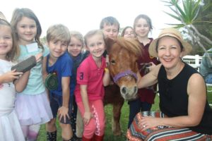 Our saddle club kids and Southside's pony Lucy meet Di Farmer