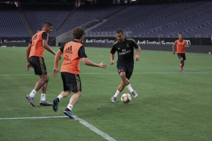 Eden Hazard training Real Madrid Fut-Ballers