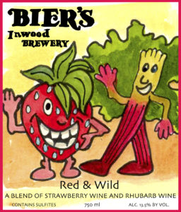 New Strawberry Rhubarb Label