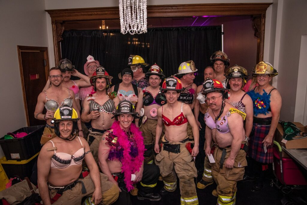 Badges and Bras Fundraiser