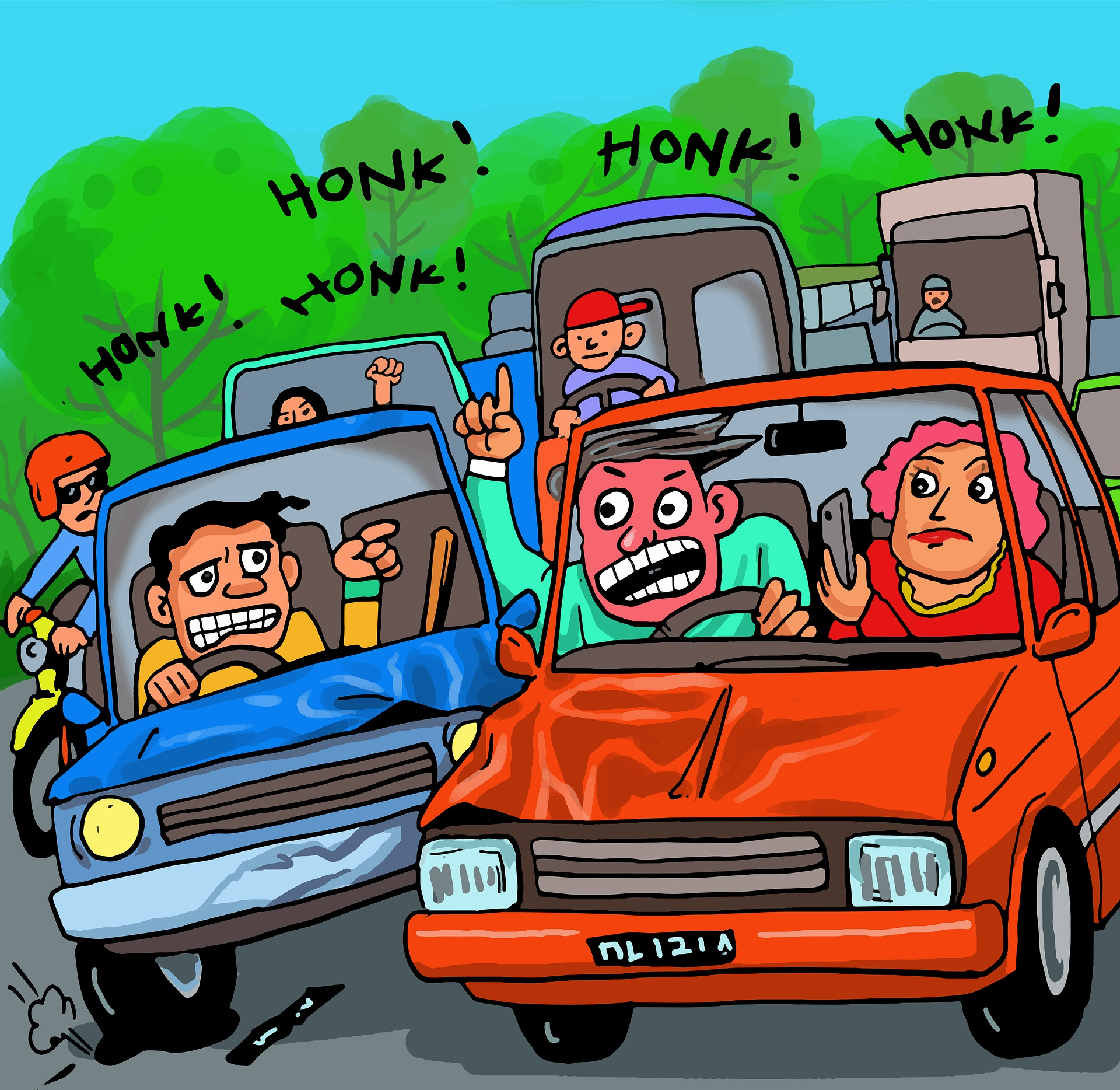 5 signs of road rage