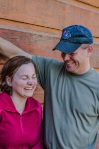 Couple-Laughing-Eagle-Rock-Camp