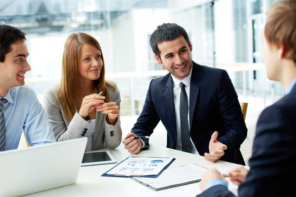 Partner Program - Business people in a discussion