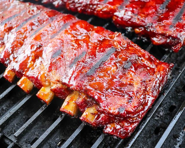 Char Glazed Ribs Recipe   Smoked Ribs Finished Over Charcoal Grill