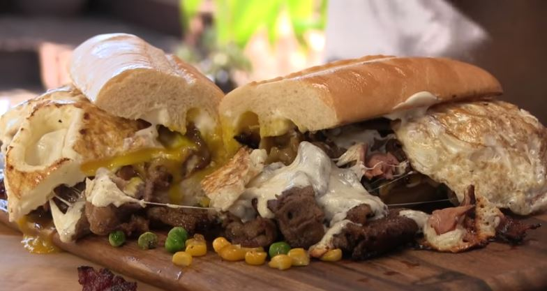 Brazilian Cheese Steak Sandwich