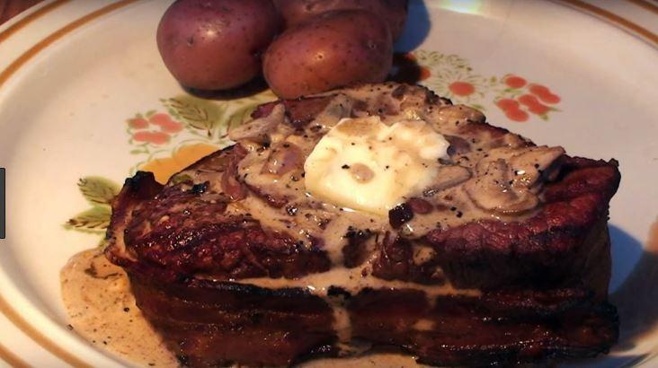 Lobster Stuffed Filet Mignon Steak