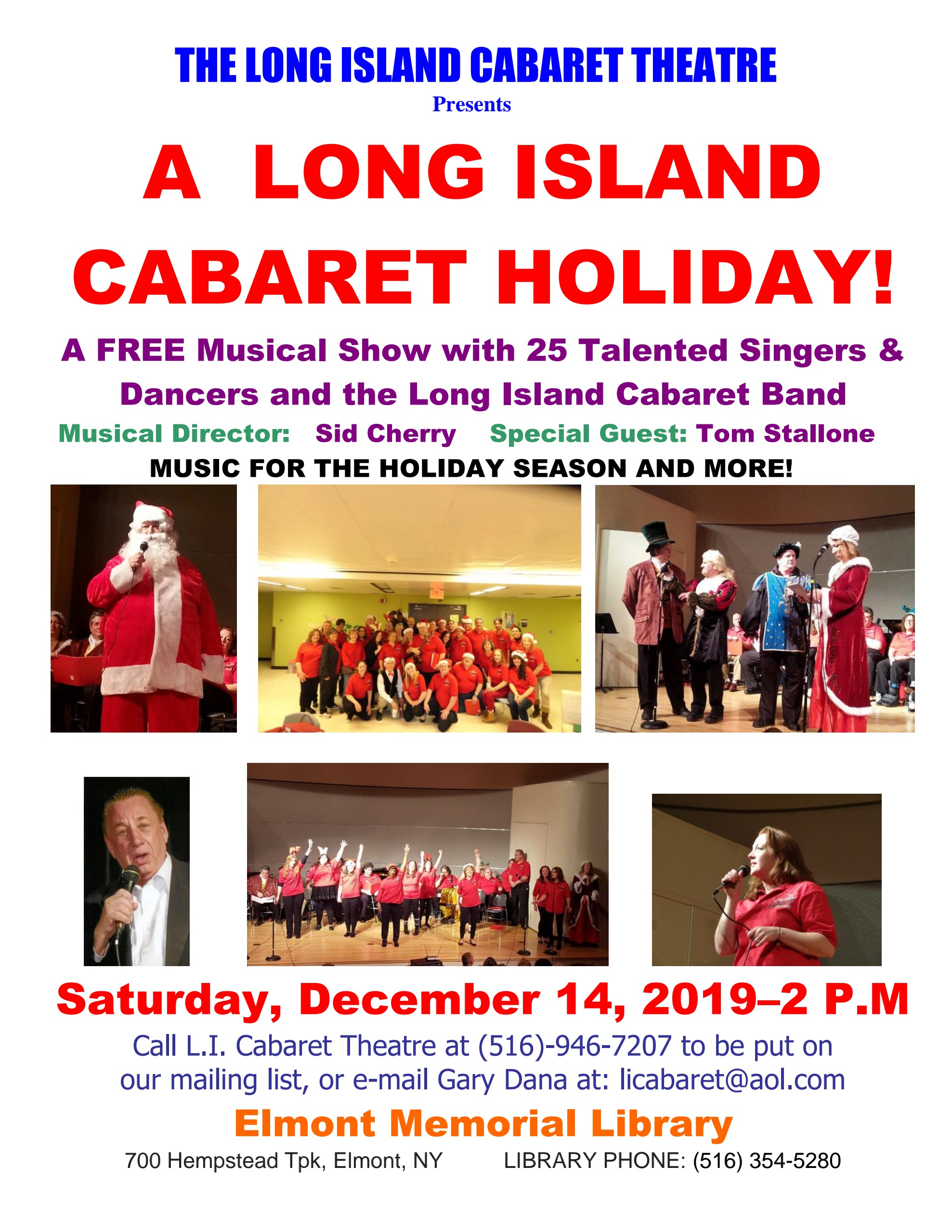 A Long Island Cabaret Holiday 12-19 Elmont Flyer 1