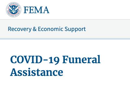 FEMA Announces COVID-19 Funeral Assistance