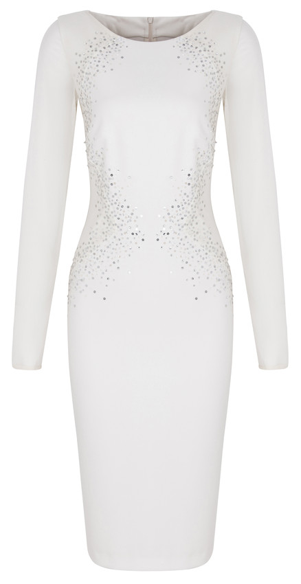 TRPYT PARTYWEAR Bile saty M&S Collection 2899 Kc-scr