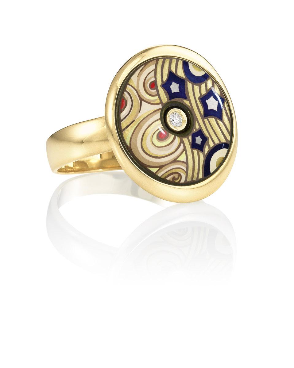 Luna Piccolissima prstev ed°cii 18Kt Gold & Diamonds