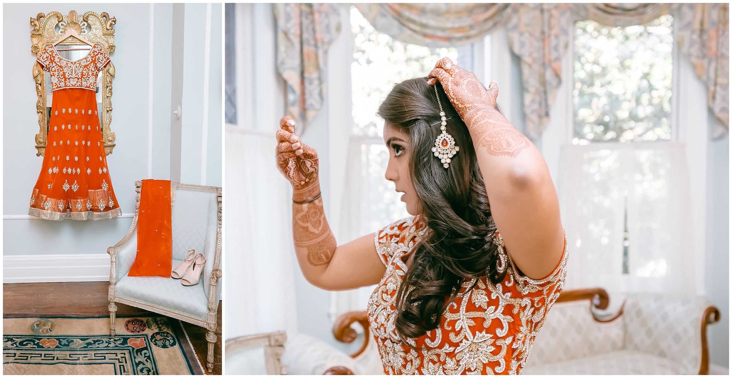 Pakistan bride getting ready wedding Washington DC