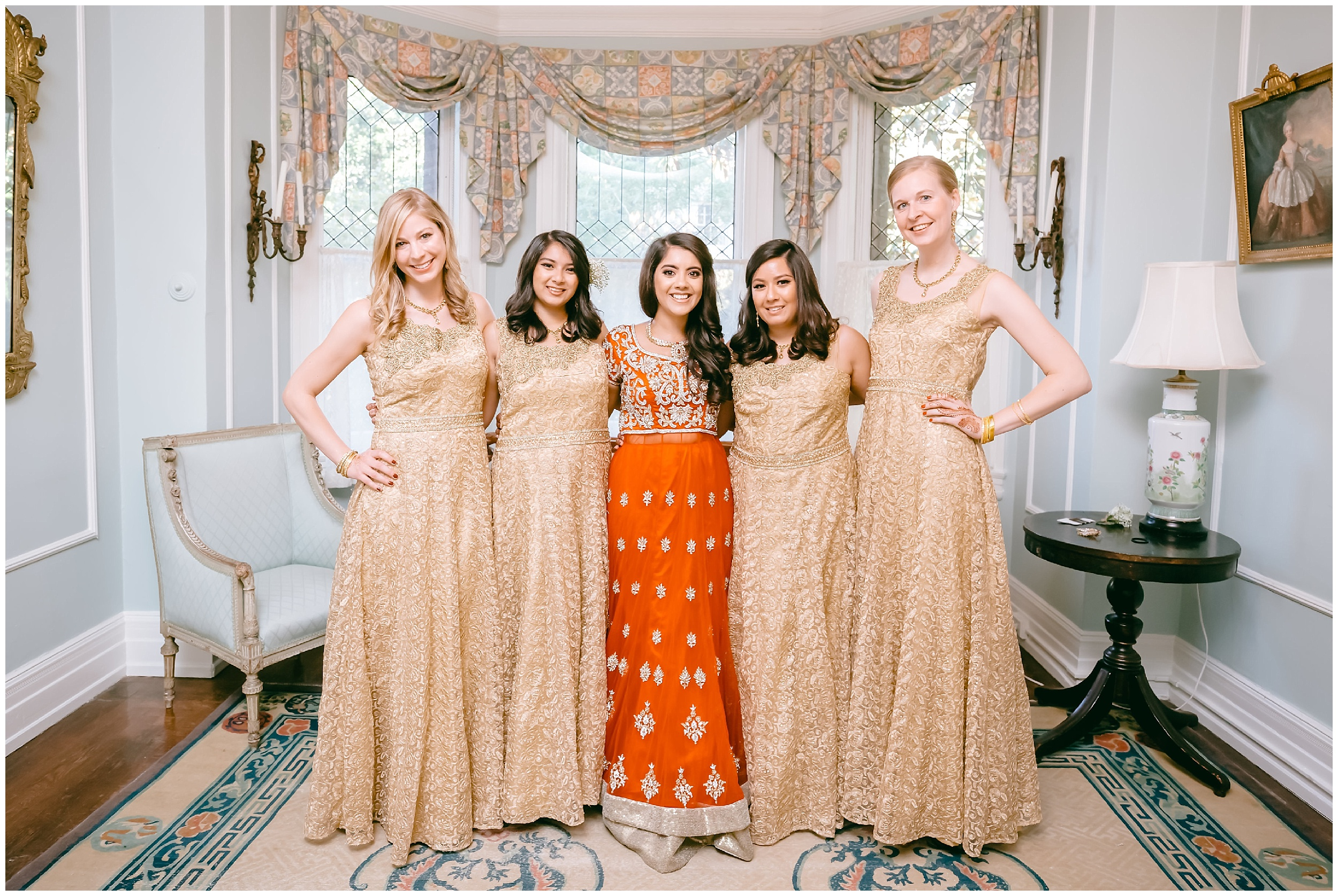 bride bridesmaids sisters saree wedding Washington DC