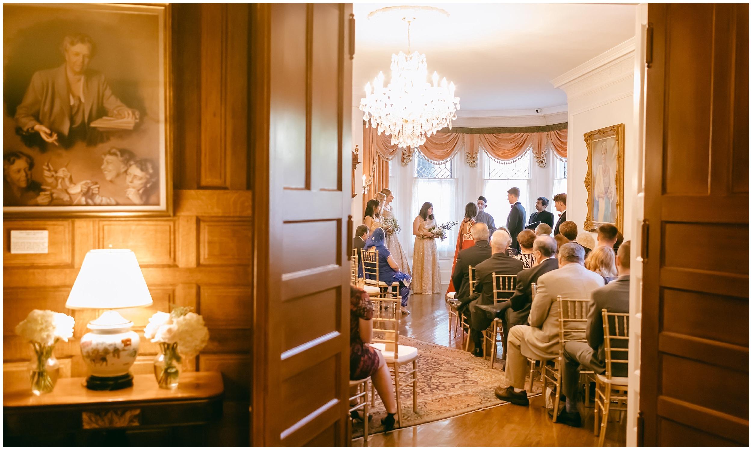 ceremony Whittemore House wedding Washington DC