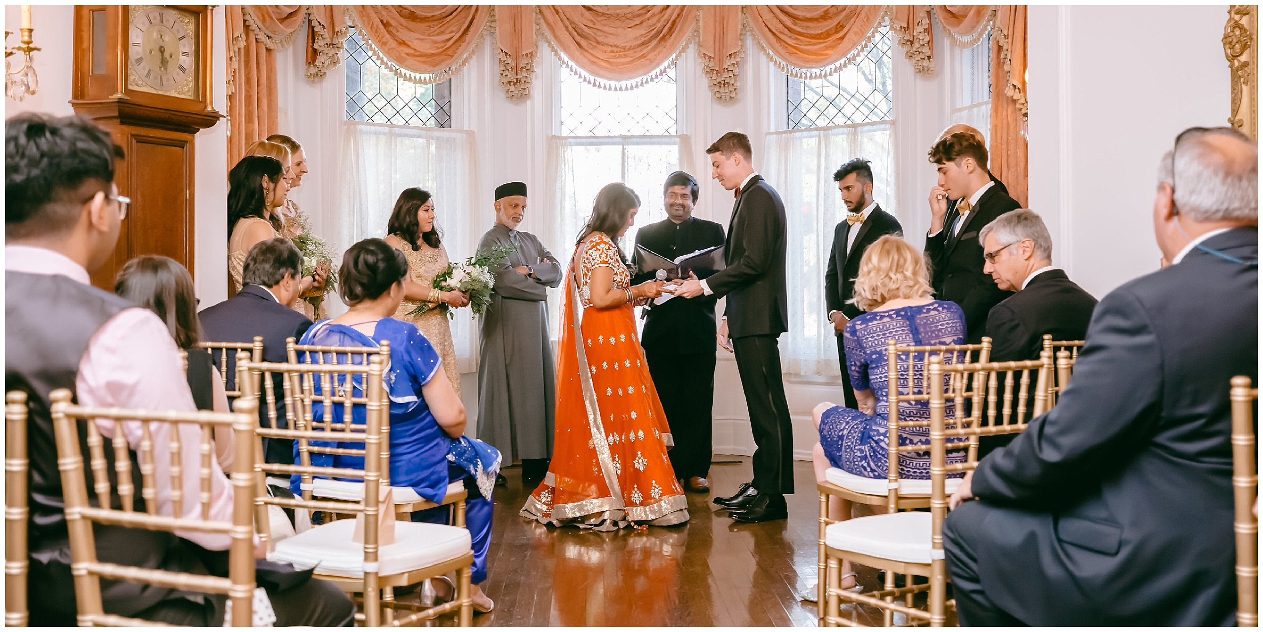 ceremony exchange rings Whittemore House wedding Washington DC