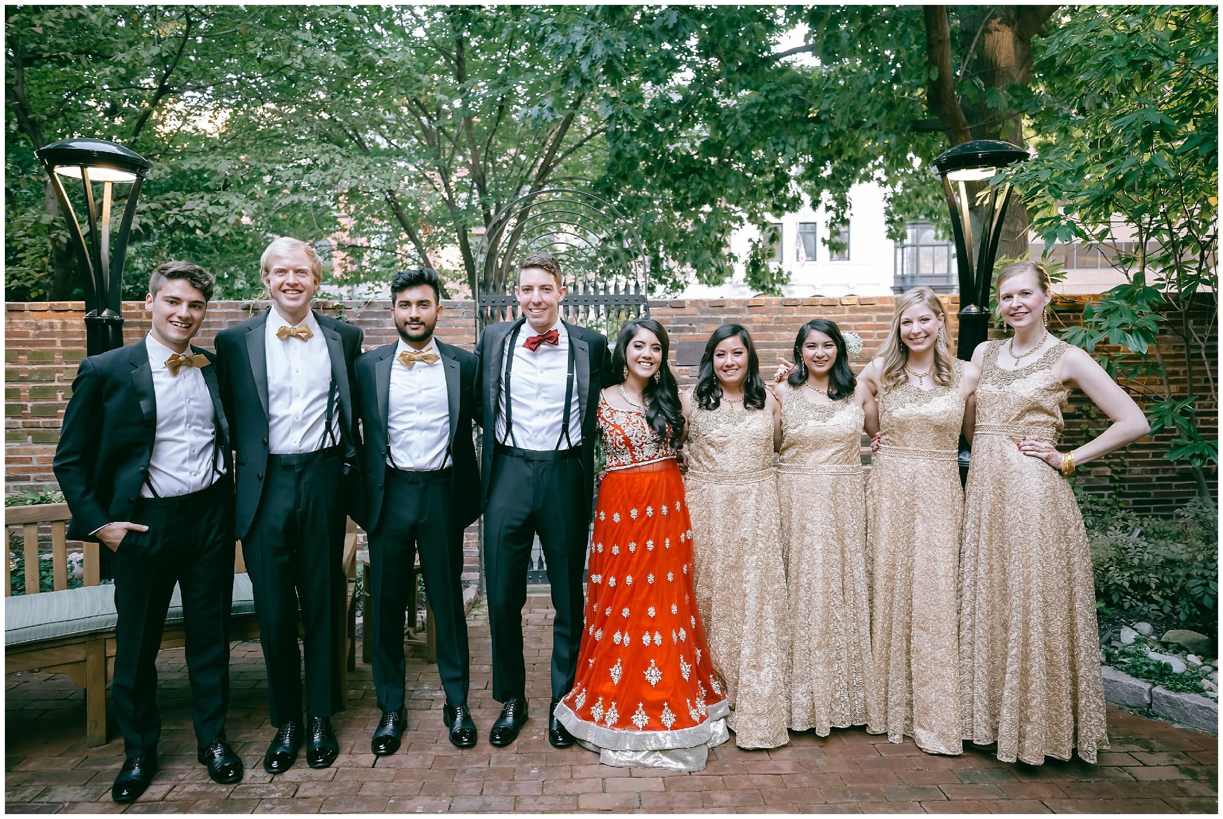bridal party formals Whittemore House wedding Washington DC