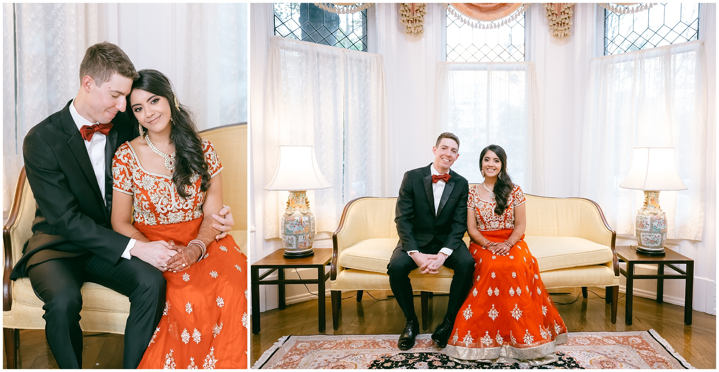 just married portrait formal Whittemore House wedding Washington DC