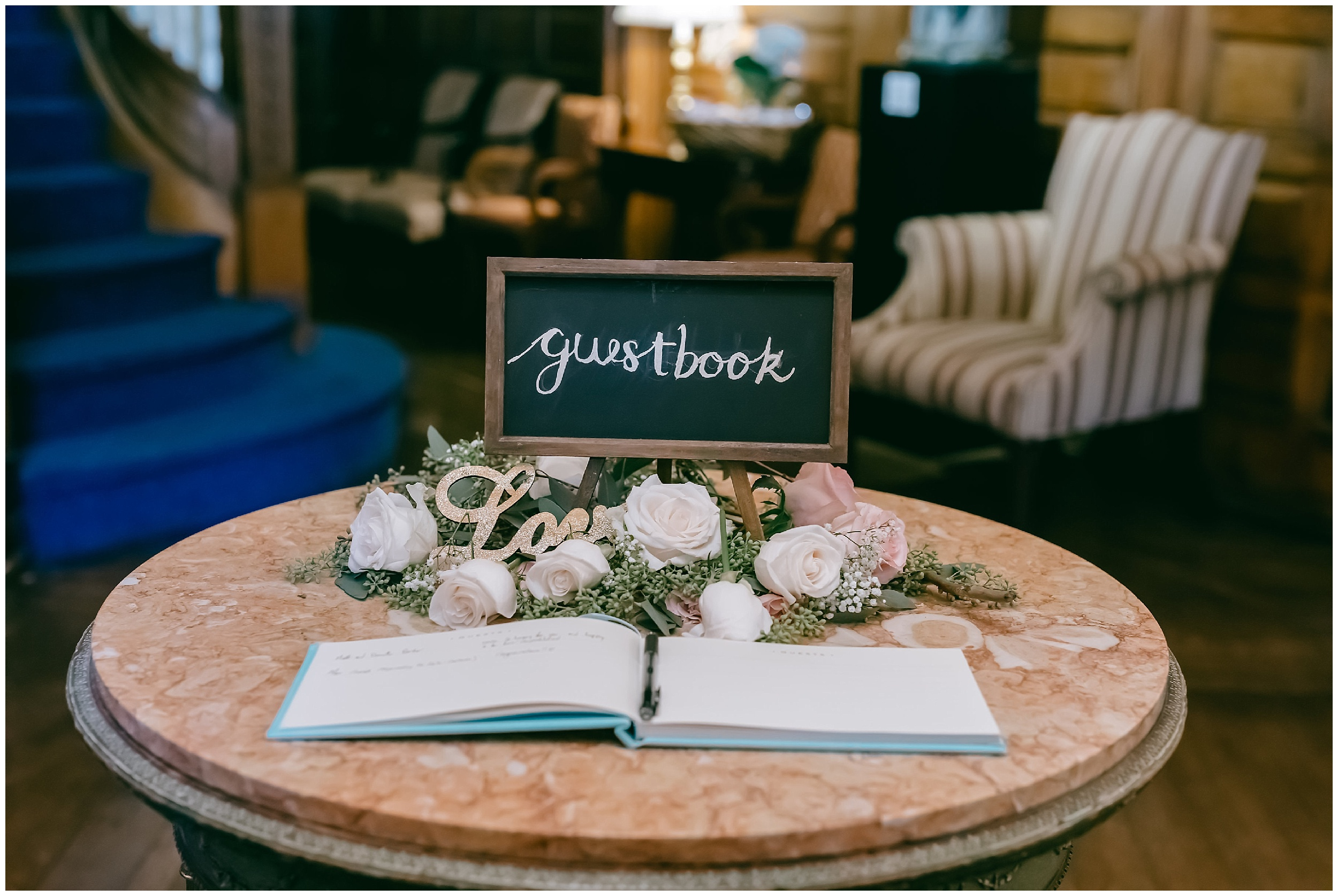 guest book Whittemore House wedding Washington DC