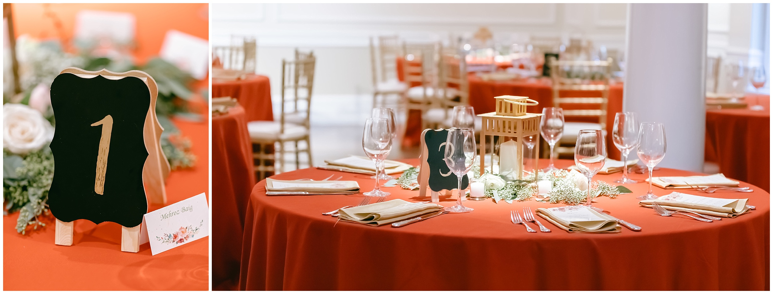 reception details table numbers linen red Whittemore House wedding Washington DC