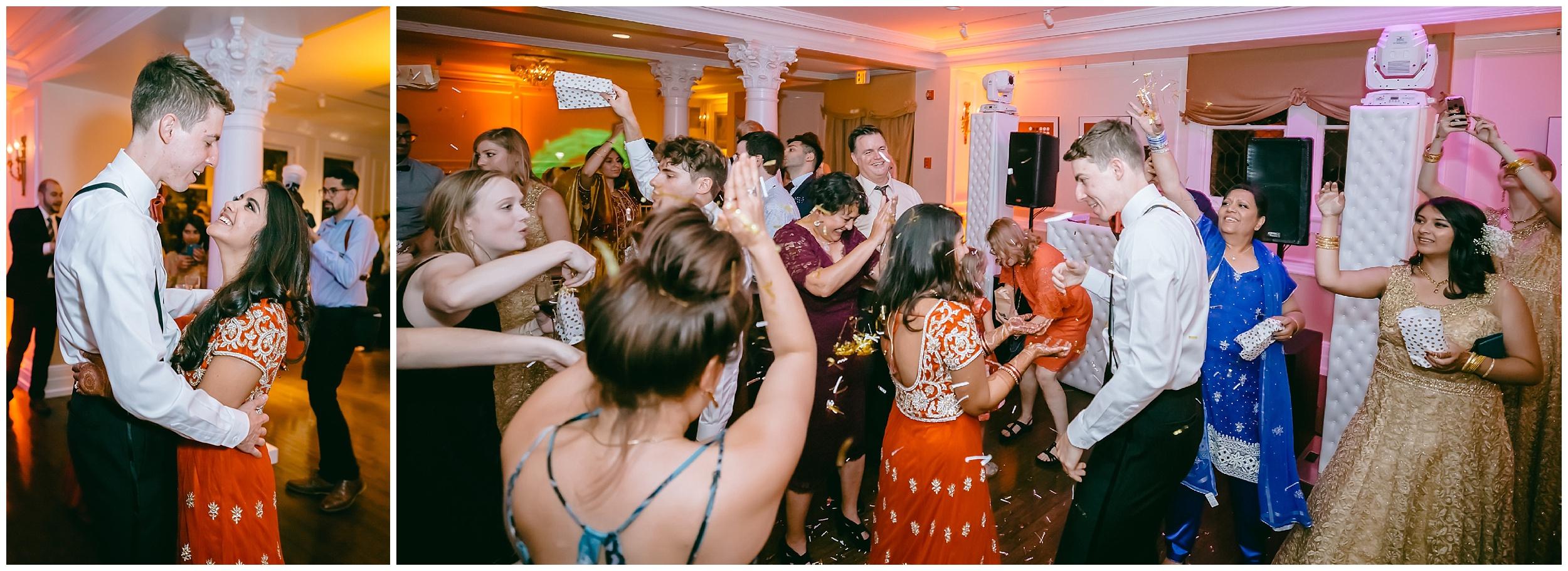 reception dance party husband wife confetti Whittemore House wedding Washington DC