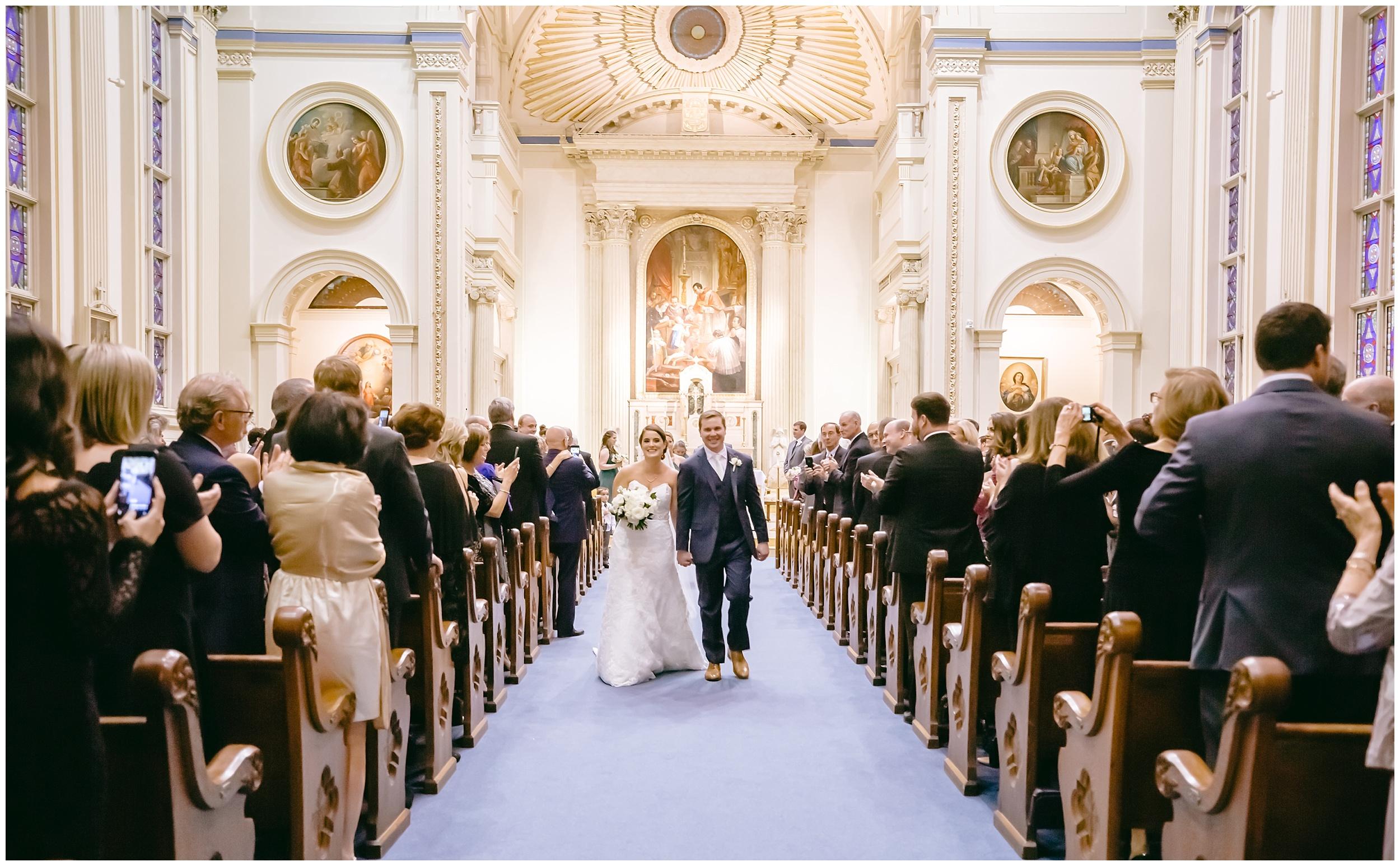 wedding-ceremony-bride-groom-just-married-catholic-washington-dc-photographer