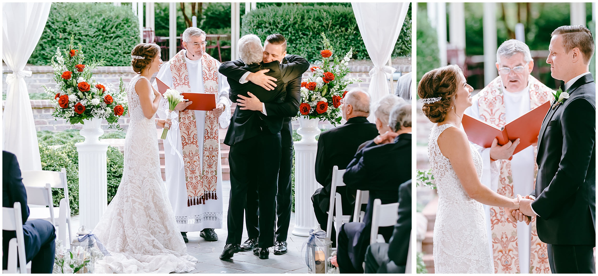 groom-hugs-brides-dad-father-aisle-altar