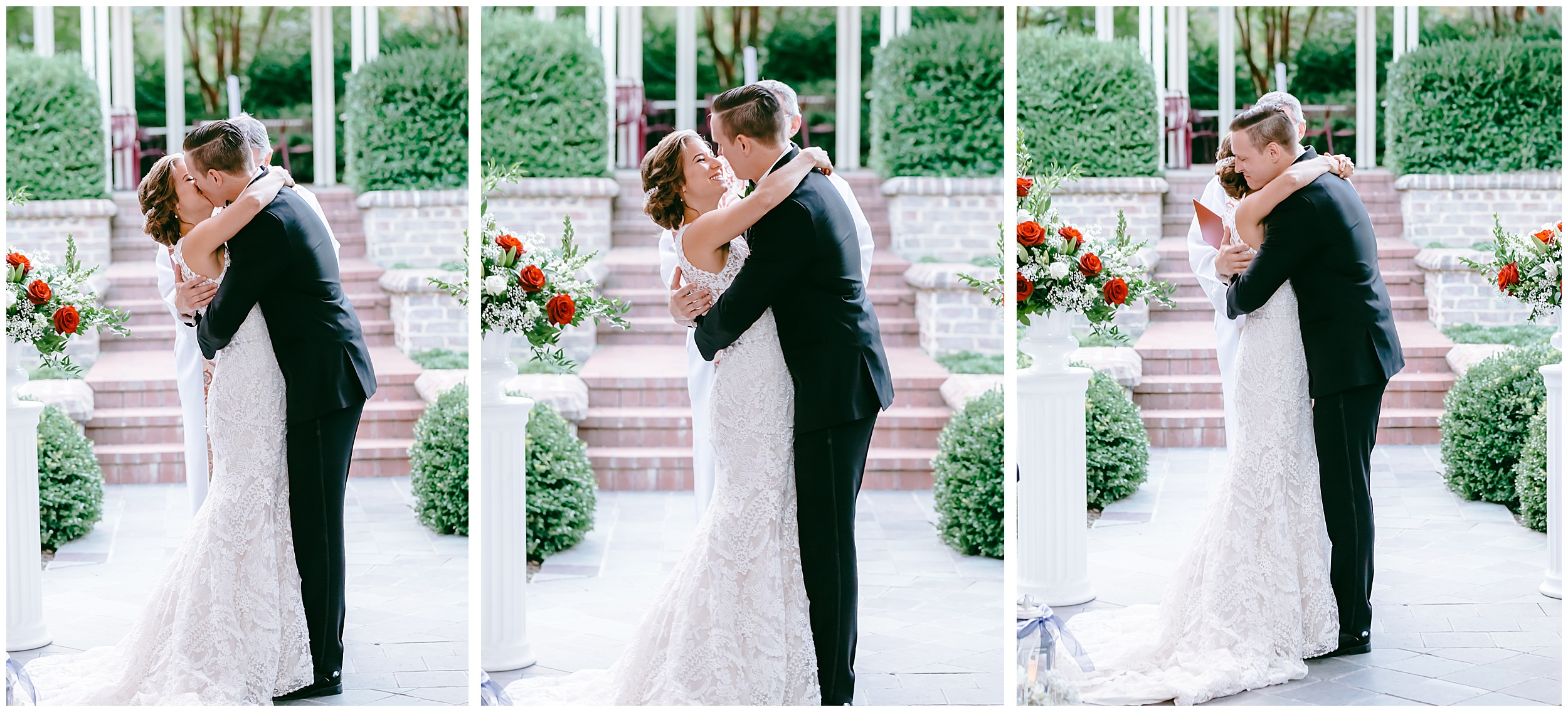 first-kiss-bride-groom-just-married