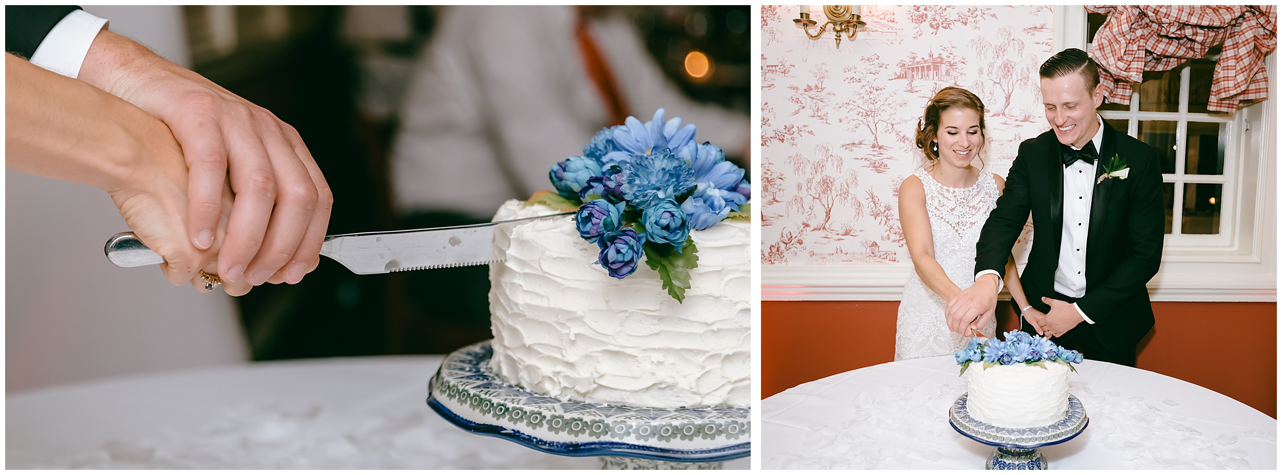 cake-cutting-floral-reception
