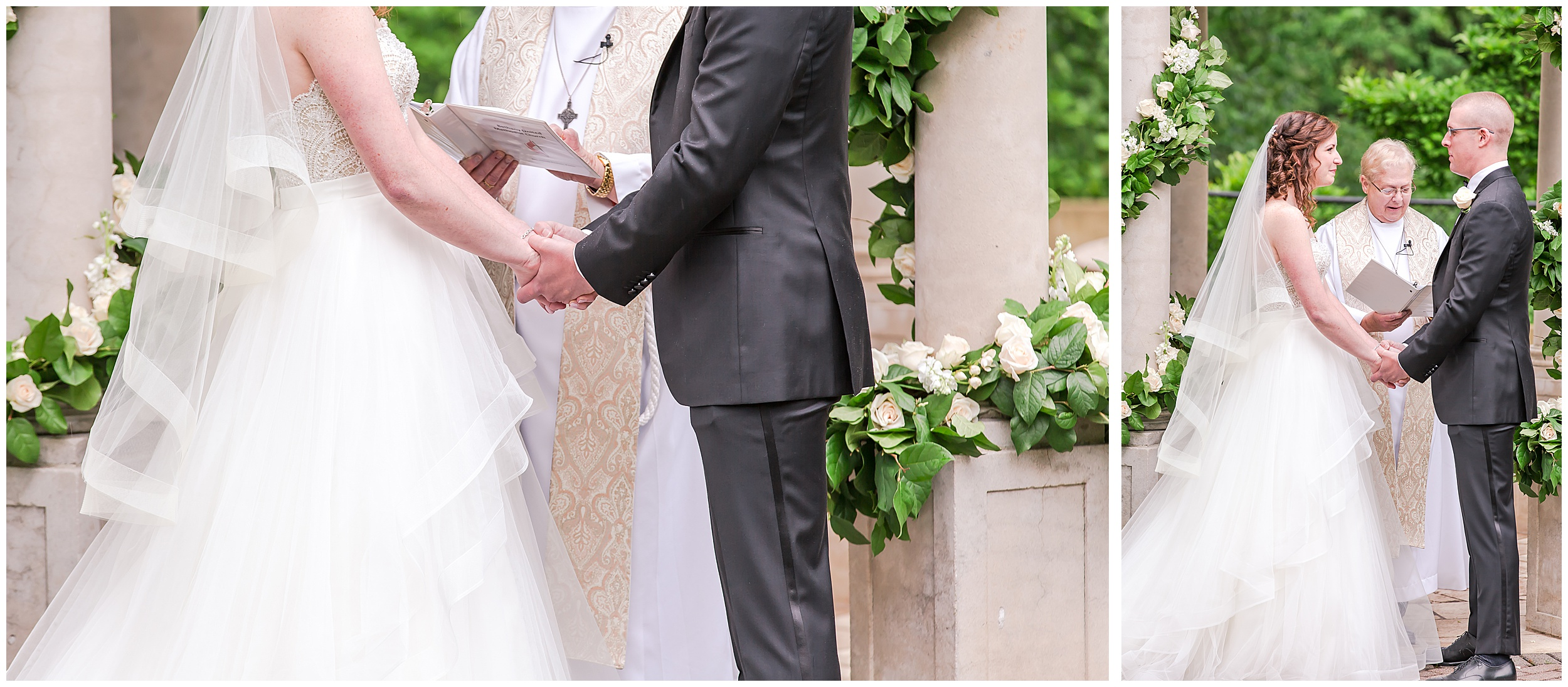 Irish Springtime Omni Shoreham Wedding ceremony-wedding-hands-holding-priest-outdoors