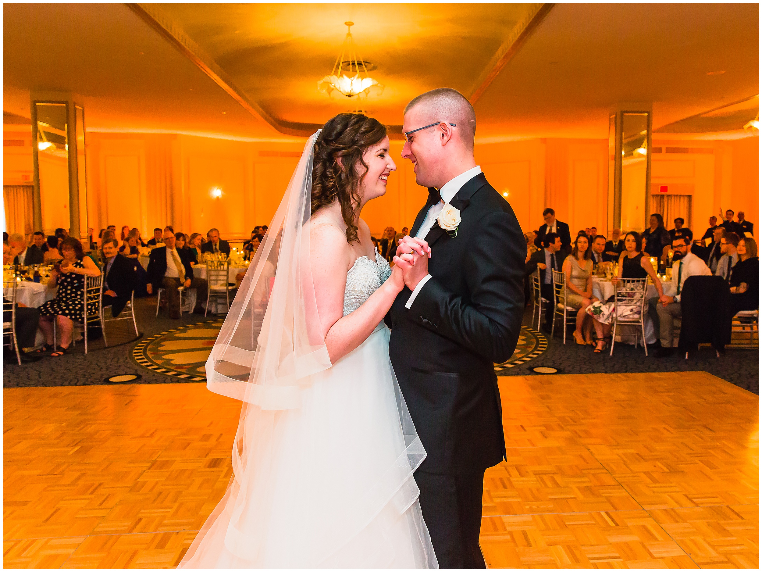 Springtime Omni Shoreham Wedding first-dance-floor-uplighting-reception