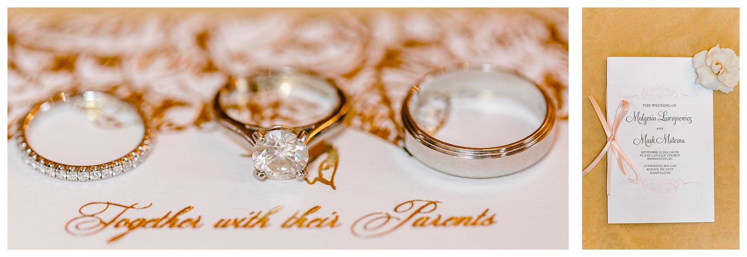 ring shot macro close up gold cartier wedding band